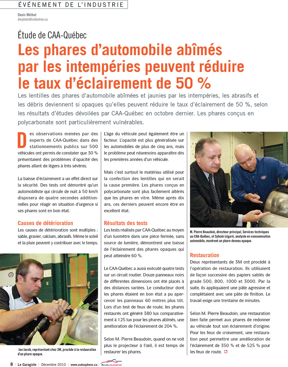 article phare polissage